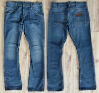 Sale% Wrangler Floyd Jean Herren Jeans W34 L36 Blau Wash Hose Baumwolle Denim