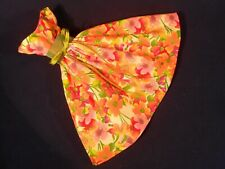 Orange Flowers Dress for Barbie Handmade OOAK Vintage Style