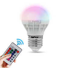 E27 3W RGB LED Bulb Control 16Color LED Light With Wireless Remote 85-265V 150LM