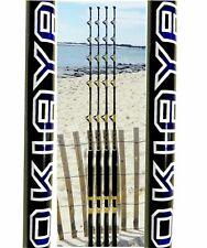 """Okiaya Composit 160-200Lb """"The Big Nasty"""" Saltwater Big Game Roller Rod Set of 4"""