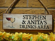 PERSONALISED DRINKS SIGN PATIO SIGN GARDEN SIGN OUTDOOR BAR SIGN OUTDOOR LOUNGE