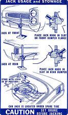 1966  GTO/TEMPEST/LEMANS JACK INSTRUCTION DECAL
