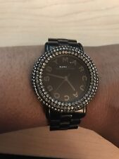 Marc by Marc Jacobs  Ladies Watch Marci Pave Crystal Black-tone