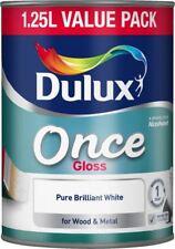Dulux Once Gloss Paint 1.25L Pure Brilliant White