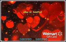 WALMART ST. VALENTINE'S RED HOT LOVE IN THE AIR #FD55568 COLLECTIBLE GIFT CARD