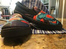 Discount ship Mens Superman Superheroes Canvas Slip on Boat Shoes Nwt Sz. 8