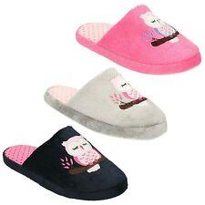 Femmes Mesdames Filles Enfants Mule Chaussons À Enfiler Doux Chaud Intérieur Confortable Flats Shoes