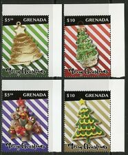 GRENADA  2016 CHRISTMAS ORNAMENTS SET OF FOUR MINT  NH