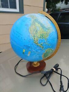 "Replogle World Horizon Series 12"" Lighted Illuminated Globe USA Textured"