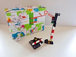 Lego  1x Prellbock ohne Schiene & BA; 1x Zugsignal Eisenbahn City Geschenk-Set