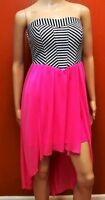 Speechless Womens XS Dress Striped Pink Blue White NWT