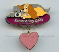 Disney Pin 33644 DLR Sweetest Day 2004 Lady & The Tramp LE