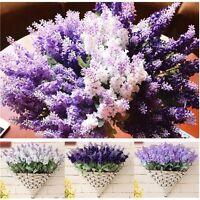 10 Head Artificial Fake Lavender Silk Flower Bridal Hydrangea Home Wedding Decor