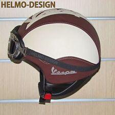 Casco vintage personalizzato per vespa lambretta Moto Guzzi Harley in eco pelle