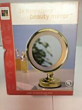 Rth 3X Magnifying Mirror Lighted Makeup Mirror Bathroom Mirror New in Box
