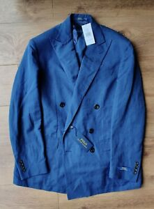 BNWT Polo Ralph Lauren men's Blue Double Breasted Jacket Gorgeous!