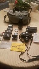 Minolta X-700 With 50mm f1.7 lens, 75-200Zoom, Filters,Power Winder & Flash &Bag