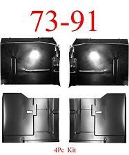 4Pc 73 91 Chevy Blazer Front & Rear Floor Pan Kit, GMC Jimmy