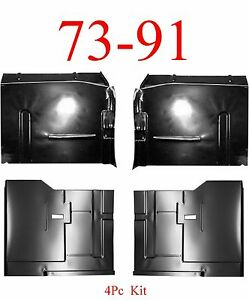 4Pc 73 91 Chevy Blazer Front & Rear Floor Pan Kit, GMC Jimmy