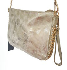 JENNIFER JONES elegante Tasche GOLD Damentasche Schultertasche CLUTCH