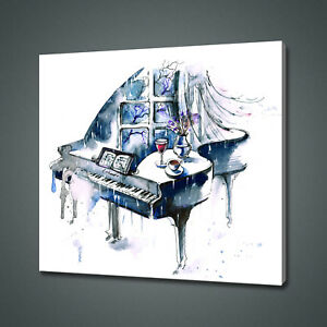 ABSTRACT PIANO CANVAS PICTURE PRINT WALL ART HOME DECOR FREE DELIVERY