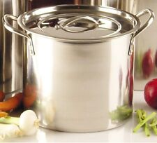 Stainless Steel Large Stock Pot Pan Brew Boiling Stew Soup Cooking Casserole
