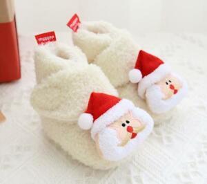Sherpa Warm Christmas Gift Newborn Baby Boy Girl Crib Shoes Infant Winter Boots