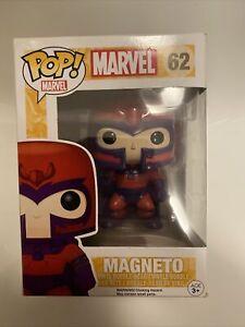 FUNKO Pop Marvel Series; 62: Magneto (Broken Box) Figure