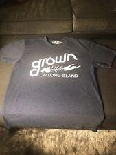 'Grown on Long Island' Fishbone Graphic Slate Blue Super SuperSoft Men's Tshirt