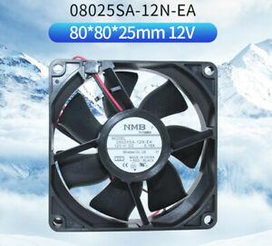 NMB 08025SA-12N-EA 12V 0.18A 8025 2-line rifle bearing power supply chassis fan