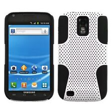 Mesh Hybrid Case for Samsung Galaxy S2 T989 (T-Mobile) - Black/White