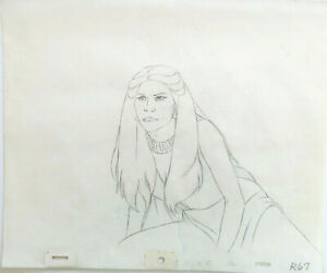 FIRE & ICE: ORIGINAL ANIMATION PRODUCTION DRAWINGS (w/ Free Autograph)
