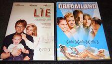 THE LIE & DREAMLAND-2 DVDs-KELLI GARNER,JOSHUA LEONARD, JUSTIN LONG, MARK WEBBER