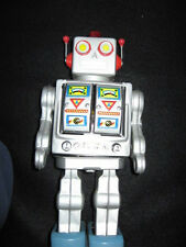 Vintage Tested and Works Great SPACE Walk Man Battery Operated Tin Toy!