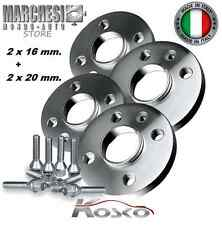 KIT 4 DISTANZIALI RUOTE 16+20 mm. FORD FIESTA IV-V-VI-VII 1995-> CON COLONNETTE