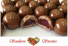 1KG CHOCOLATE COATED RED RASPBERRIES LOLLIES CANDY BUFFET CHOCOLATES CHOC 145ct
