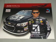 2013 JAMIE McMURRAY #1 CESSNA NASCAR POSTCARD