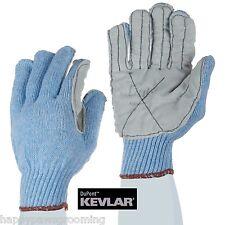 Dog Cat Bird Reptile Kevlar Lined Leather Palm Animal Handling Gloves Glove*Med