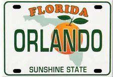 ORLANDO FLORIDA LICENSE PLATE FRIDGE COLLECTOR'S SOUVENIR MAGNET 2.5