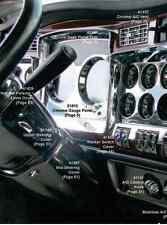 Kenworth W900 T800 T660 C500 2006+ Chrome Speed/Tach Gauge Panel Outer Trim