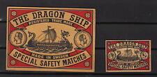 Ancienne   étiquette      allumettes Suède  AZ771  Drakar Bateau 2