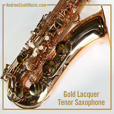 New Gold Tenor Saxophone in Case - Masterpiece