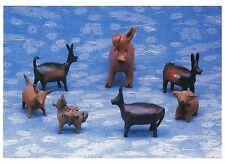 Postcard Ceramic Animals Chile c1960 Museum of Int'l Folk Art NM MINT