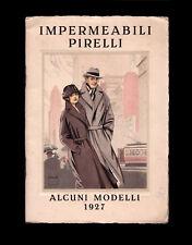 Pirelli Impermeabili. Catalogo illustrato anno 1927. Copertina di Pinochi.