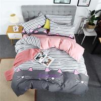 Cute Cat Single/Double/Queen/King Bed Quilt/Doona/Duvet Cover Set Pillowcase