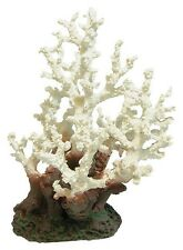 Large White Coral Aquarium Ornament Artificial Coral Fish Tank Decoration