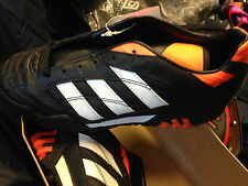 ADIDAS QUITO TEAM   5UK AT £15 BLACK/ORAMGEE ASTRO   MAN MADE LEATHER