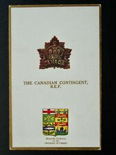 More details for regimental badges the canadian contingent b.e.f. postcard by gale & polden 1643