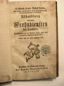 von denen Frohndiensten der Teutschen - 1759