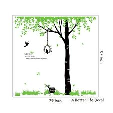 Lot of 10 Sheets of Love Birds in Tree Wall Decal Decor for Living room  SC4